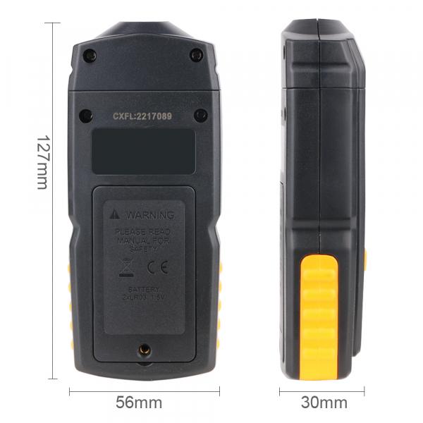 Tahometru digital fara contact Optimus AT 8900, masurare viteza rotatie pe minut RPM, negru [2]