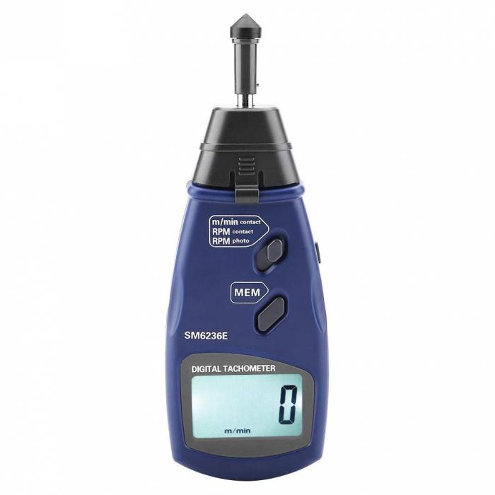 Tahometru digital 2 in 1 cu/fara contact Optimus AT 6236, masurare viteza rotatie pe minut RPM, albastru [2]