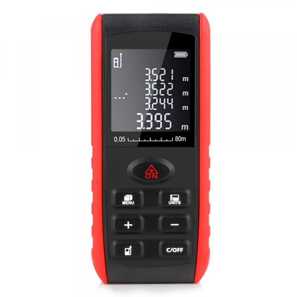 Telemetru profesional Optimus AT e40 functii multiple, 5 cm-40 m, distanta, aria, volum, pitagora, 99 memorii, toleranta 1,5mm [0]