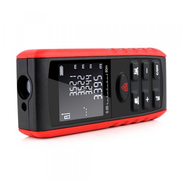 Telemetru profesional Optimus AT e40 functii multiple, 5 cm-40 m, distanta, aria, volum, pitagora, 99 memorii, toleranta 1,5mm [3]