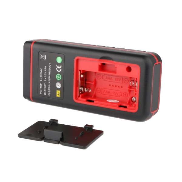 Telemetru profesional Optimus AT W40 functii multiple, 5 cm-40 m, distanta, aria, volum, pitagora, nivela, 30 memorii,  toleranta 2mm [1]