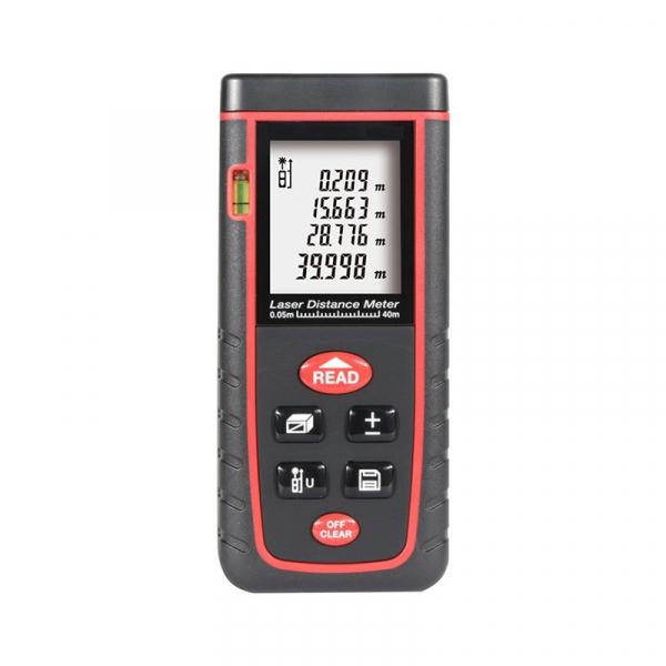 Telemetru profesional Optimus AT W40 functii multiple, 5 cm-40 m, distanta, aria, volum, pitagora, nivela, 30 memorii,  toleranta 2mm [0]