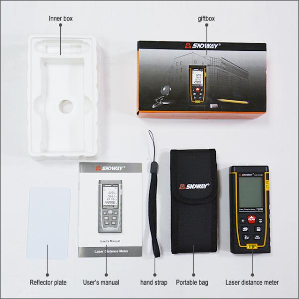 Telemetru profesional SNDWAY TG50, 2 x boloboc, functii multiple, 5 cm-50 m, distanta, aria, volum, pitagora, nivela, 30 memorii,  toleranta 2mm [3]
