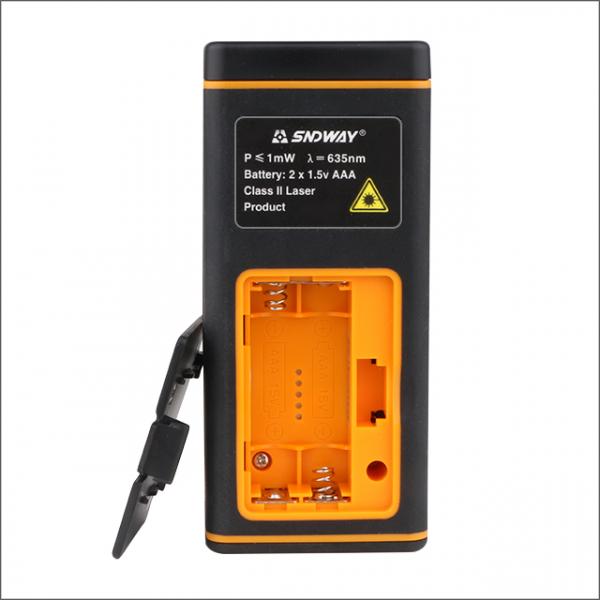 Telemetru profesional SNDWAY TG50, 2 x boloboc, functii multiple, 5 cm-50 m, distanta, aria, volum, pitagora, nivela, 30 memorii,  toleranta 2mm [1]