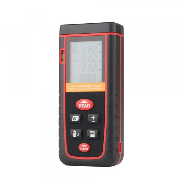 Telemetru profesional Optimus AT W80 functii multiple, 5 cm-80 m, distanta, aria, volum, pitagora, boloboc, 30 memorii,  toleranta 2mm [4]
