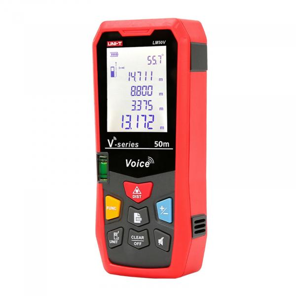 Telemetru Uni-T LM50V functii multiple, 5 cm-50 m, distanta, aria, volum, pitagora, boloboc, toleranta 1,5mm [1]