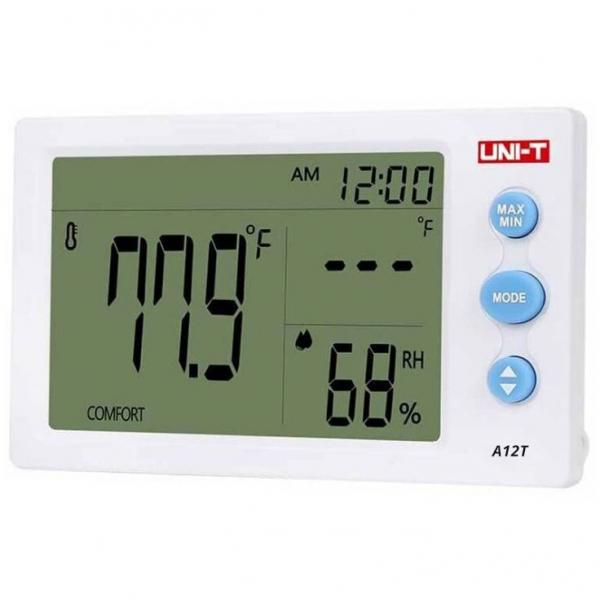 Termohigrometru digital A12T UNI-T, alarma, ceas, statie meteo [1]