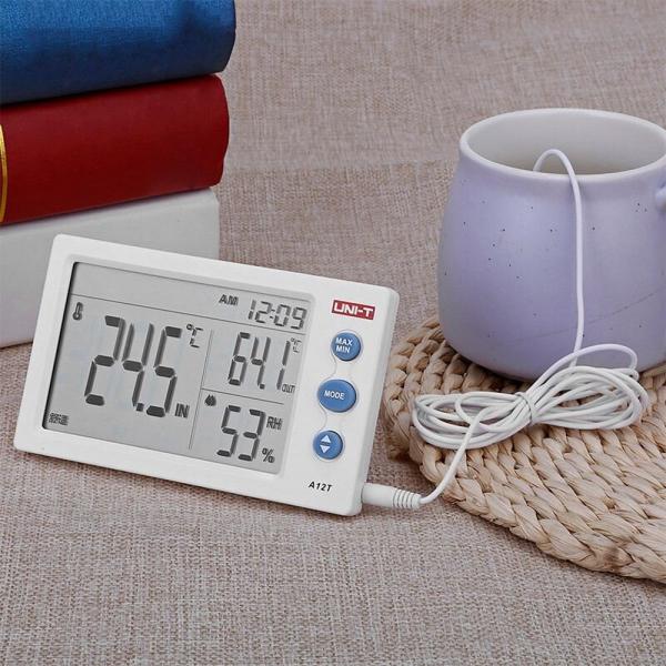 Termohigrometru digital A12T UNI-T, alarma, ceas, statie meteo [2]