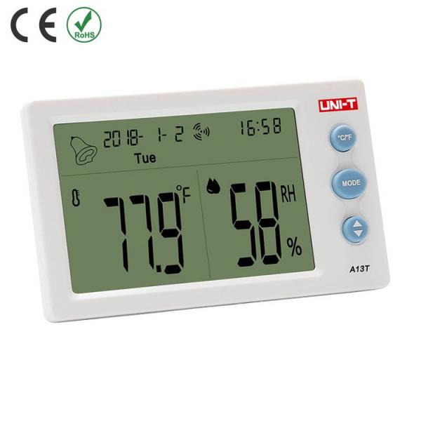 Termohigrometru digital A13T UNI-T, alarma, ceas, statie meteo [2]