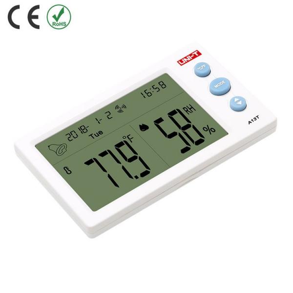 Termohigrometru digital A13T UNI-T, alarma, ceas, statie meteo [3]