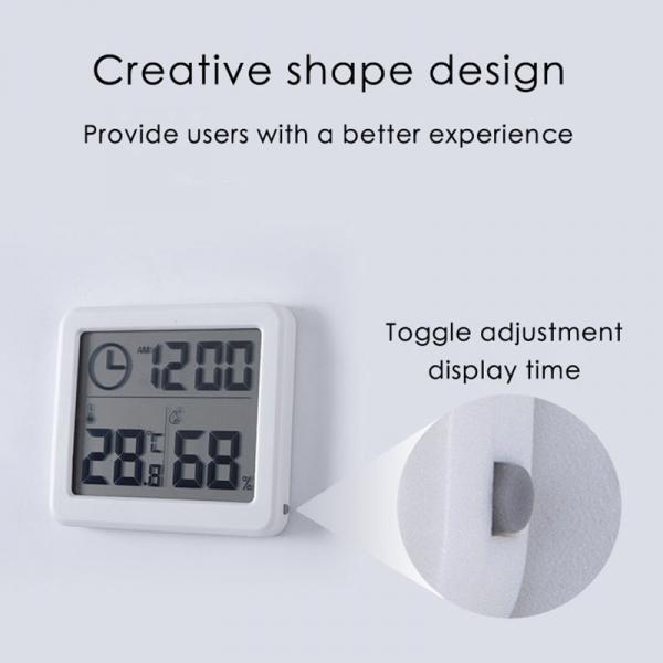Termometru higrometru digital de casa cu ceas, termohigrometru [2]