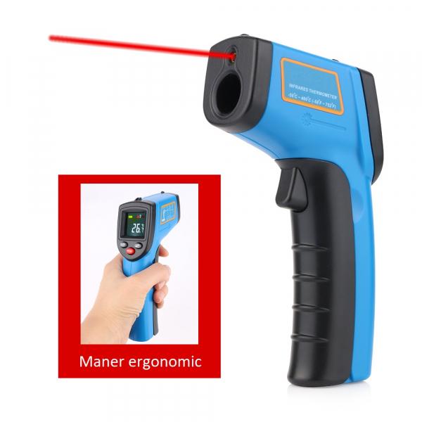 Termometru industrial Optimus AT 400 interval -50 +400°C cu afisaj color luminat, albastru [3]