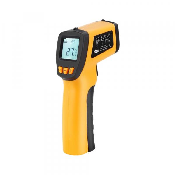 Termometru industrial Optimus AT 420 interval -50 +420°C cu afisaj luminat, portocaliu negru [0]
