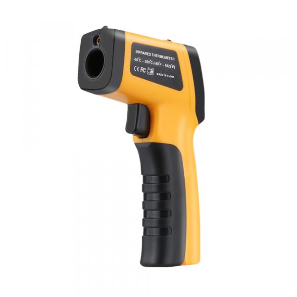 Termometru industrial Optimus AT 420 interval -50 +420°C cu afisaj luminat, portocaliu negru [2]