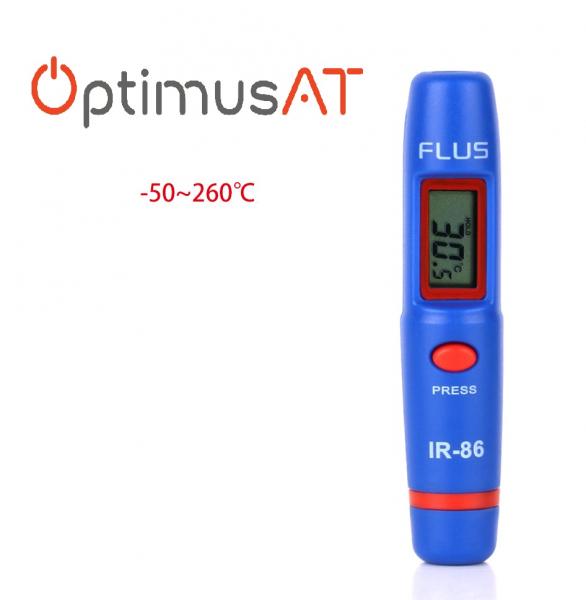 Termometru multifunctional tip stilou Optimus AT 86 interval -50 +260°C cu afisaj luminat, rosu albastru [5]