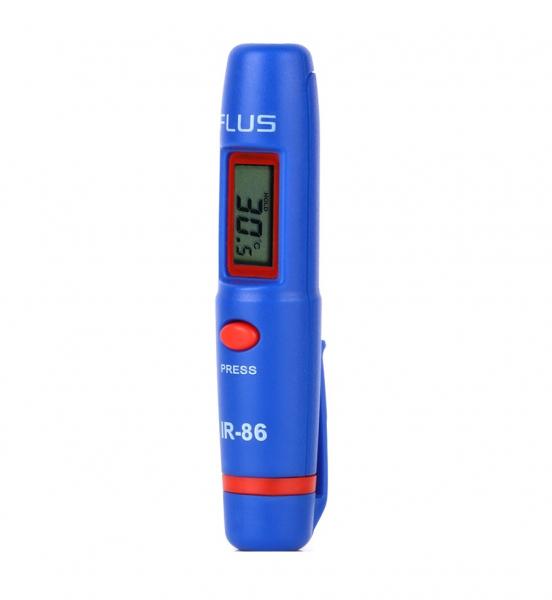 Termometru multifunctional tip stilou Optimus AT 86 interval -50 +260°C cu afisaj luminat, rosu albastru [0]
