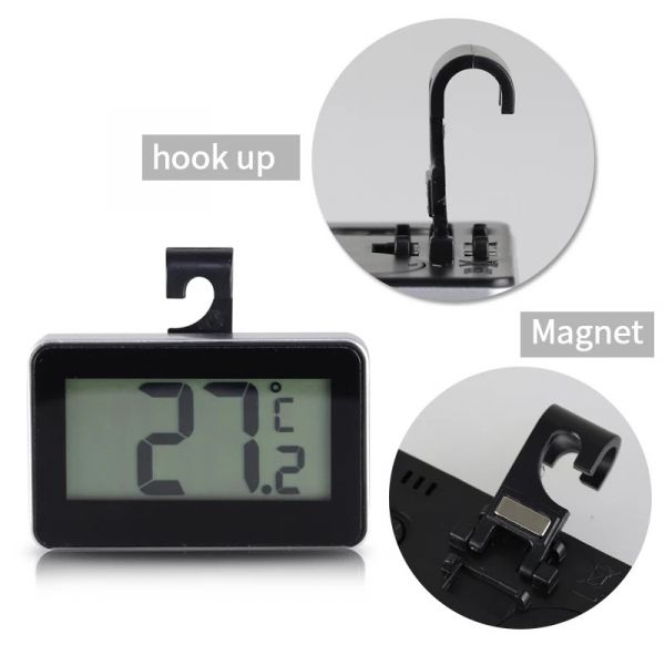 Termometru pentru frigider, cu magnet, interval -20 +50°C, model 3228 alb / negru [2]