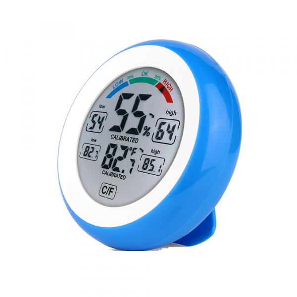 Termometru si Higrometru de interior Optimus AT 3305 digital, multifunctional, albastru [0]