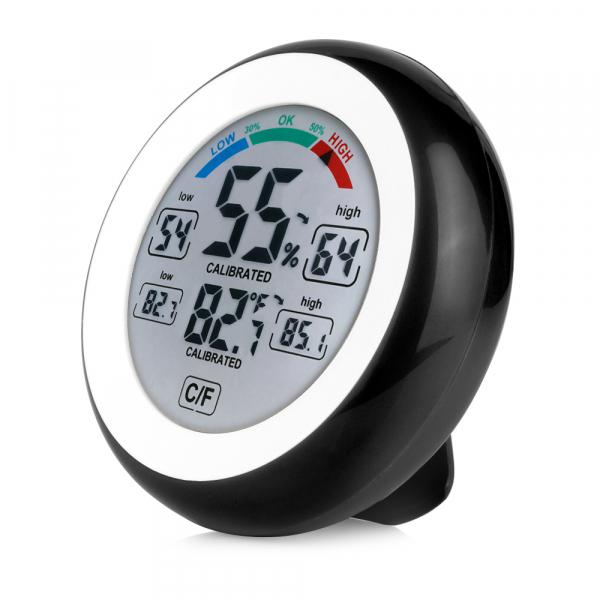 Termometru si Higrometru de interior Optimus AT 3305 digital, multifunctional, negru [0]