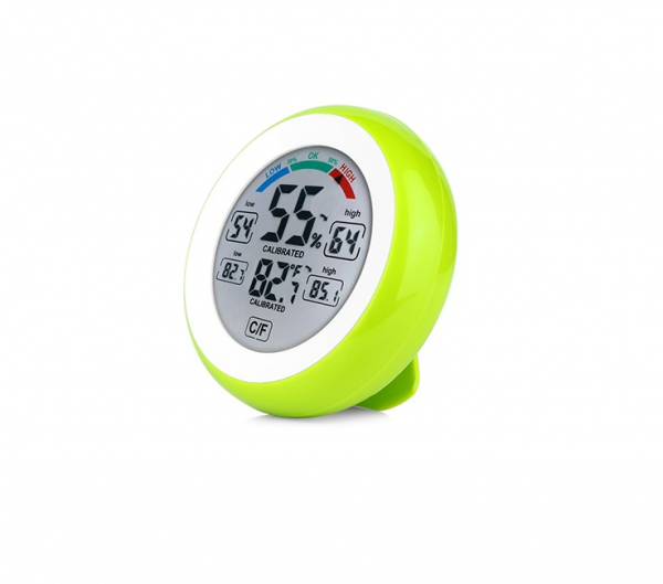 Termometru si Higrometru de interior Optimus AT 3305 digital, multifunctional, verde [0]