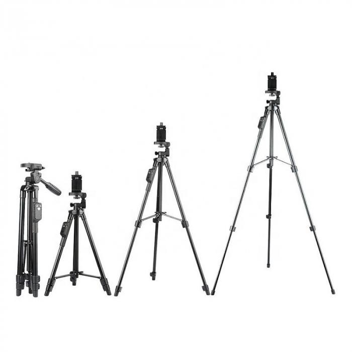 Trepied aluminiu inaltime 430 mm - 1250 mm, prindere 1/4, pentru telefon/unelte, 500 gr, max 1.5 kg, 520 [1]