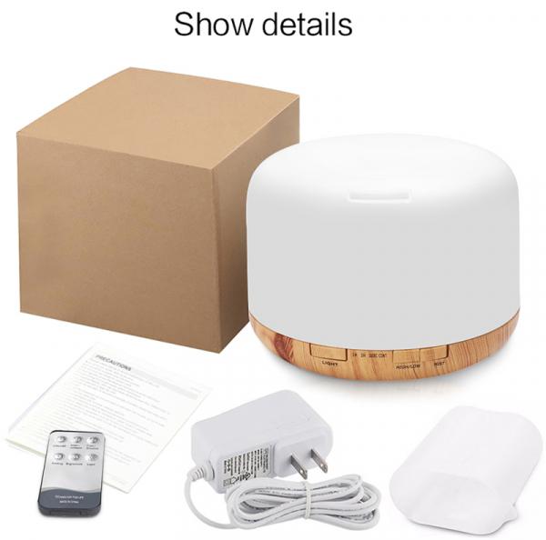 Umidificator Aromaterapie Lampa de veghe cu telecomanda Optimus AT Home™ 1552 rezervor 500ml, cu ultrasunete, 25-30m², purificator aer, lemn inchis [3]