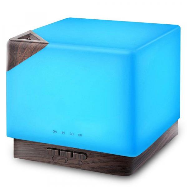 Umidificator Aromaterapie Lampa de veghe Optimus AT Home™ 1554 rezervor 700ml, cu ultrasunete, 25-30m², purificator aer, lemn inchis [0]