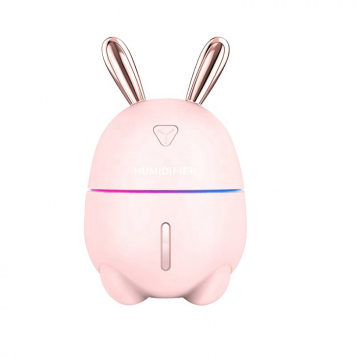 Umidificator din gama mini, ultraportabil Optimus AT Home™ K9 cu rezervor 250ml si alimentare la micro-USB, pentru 13-15m², roz [0]