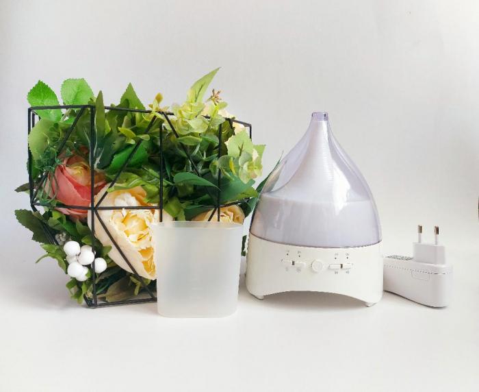 Umidificator Aromaterapie Lampa de veghe cu telecomanda Optimus AT Home™ 2028 rezervor 300ml, cu ultrasunete, 25-30m², purificator aer, white [4]