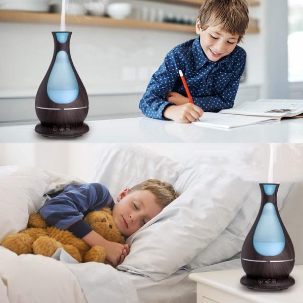 Umidificator Aromaterapie Lampa de veghe Optimus AT Home™ 1818 cu ultrasunete, , 25m², purificator aer, difuzor, rezervor 400ml, dark wood [3]