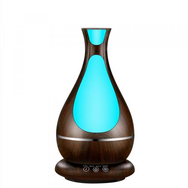 Umidificator Aromaterapie Lampa de veghe Optimus AT Home™ 1818 cu ultrasunete, , 25m², purificator aer, difuzor, rezervor 400ml, dark wood [2]