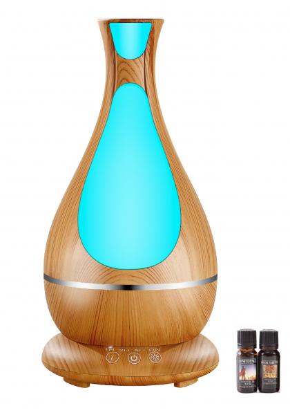 Umidificator Aromaterapie Lampa de veghe Optimus AT Home™ 1818 cu ultrasunete, 25m², purificator aer, difuzor, rezervor 400ml, light wood [1]