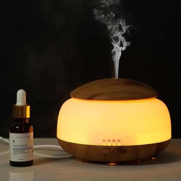Umidificator Aromaterapie Lampa de veghe Optimus AT Home™ 1850 rezervor 300ml, ultrasunete, 20-30m², purificator aer, difuzor, light wood [1]