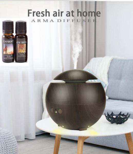 Umidificator Aromaterapie Optimus AT Home™ 1741 rezervor 600ml, ultrasunete, 20-60m², purificator aer, difuzor, dark wood [0]