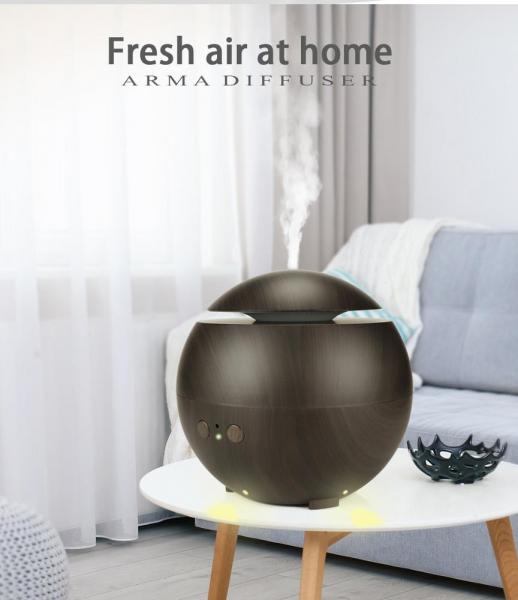 Umidificator Aromaterapie Optimus AT Home™ 1741 rezervor 600ml, ultrasunete, 20-60m², purificator aer, difuzor, dark wood [4]
