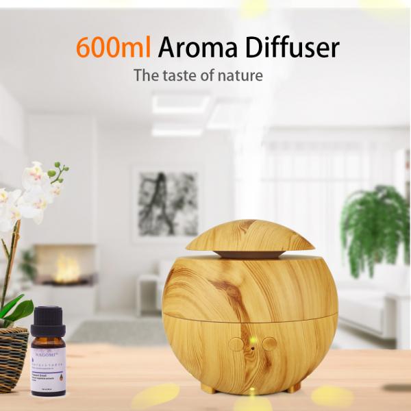 Umidificator Aromaterapie Optimus AT Home™ 1741 rezervor 600ml, ultrasunete, 20-60m², purificator aer, difuzor, light wood [2]