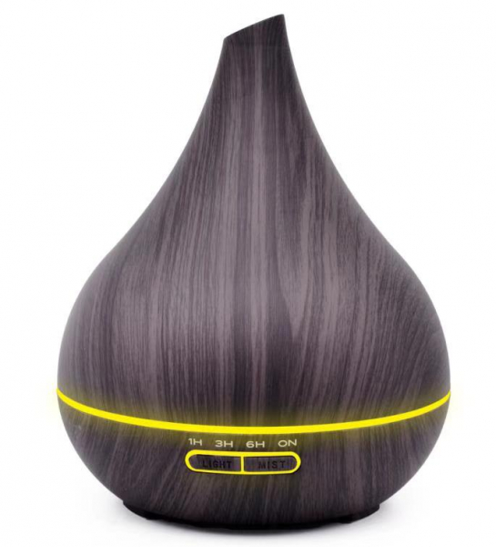 Umidificator Aromaterapie Optimus AT Home™ 1743 rezervor 400ml, cu ultrasunete, 25-30m², purificator aer, difuzor, dark wood [4]