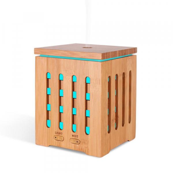Umidificator Aromaterapie Optimus AT Home™ 1825 rezervor 200ml, cu ultrasunete, 20-25m², purificator aer, difuzor, dark wood [1]