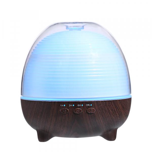 Umidificator Aromaterapie Optimus AT Home™ 1958 cu telecomanda rezervor 600ml, cu ultrasunete, 25-30m², purificator aer, difuzor, dark wood [0]