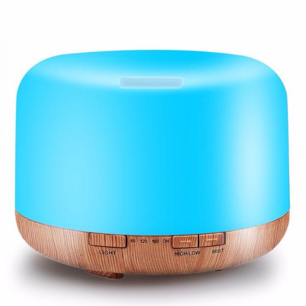 Umidificator cu telecomanda Aromaterapie Lampa de veghe Optimus AT Home™ 1553  rezervor 1000ml, cu ultrasunete, 30-40m², purificator aer, difuzor, light wood base [3]