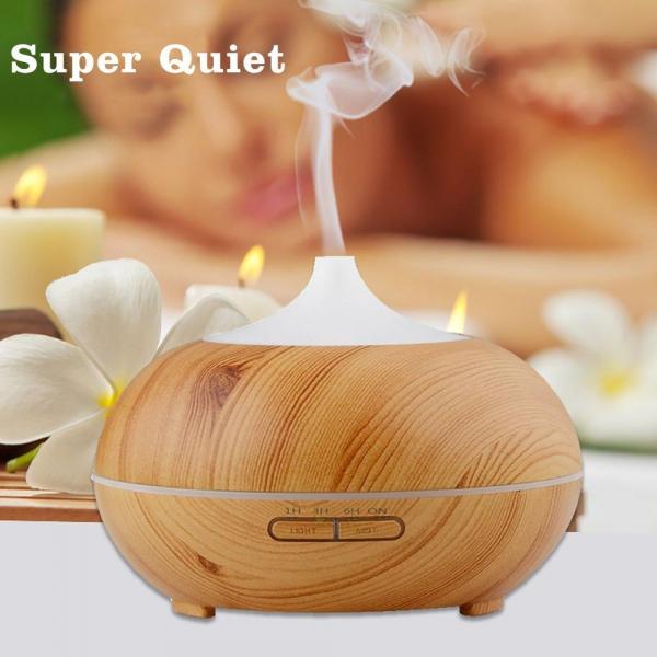 Umidificator Optimus AT Home™ 1704 cu ultrasunete, aromaterapie, 25-30m², purificator aer, difuzor, rezervor 300ml, light wood [4]