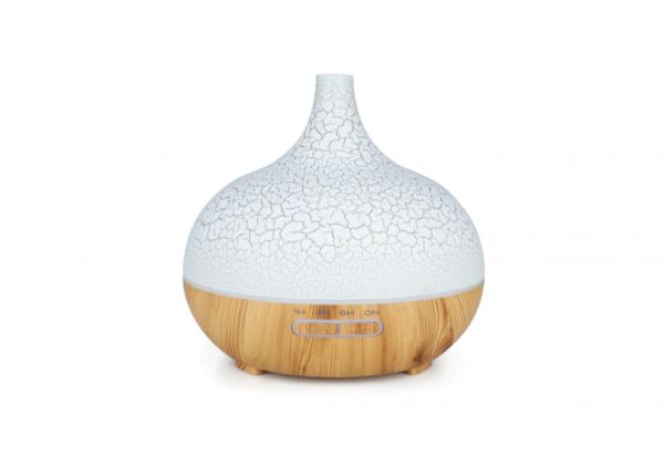 Umidificator Optimus AT Home™ 1705 cu ultrasunete, aromaterapie, 25-30m², purificator aer, difuzor, rezervor 300ml, light wood cracks [0]