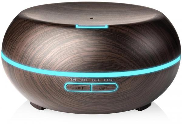 Umidificator Optimus AT Home™ 1721 cu ultrasunete, aromaterapie, 20-25m², purificator aer, difuzor, rezervor 200ml dark wood [1]