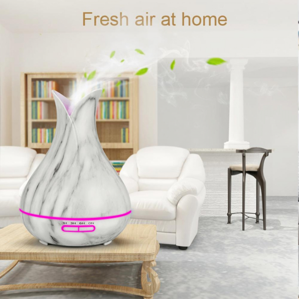 Umidificator Optimus AT Home™ 1740 cu ultrasunete, aromaterapie, 20-40m², purificator aer, difuzor, rezervor 400ml marble [3]