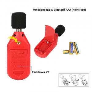 Sonometru din gama mini UNI-T 353BT, cu bluetooth, descarcare date in telefon [3]