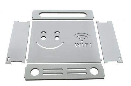 Suport Router Wireless Smile 36x28x9 cm, alb, pentru mascare fire si echipament WI-FI, posibilitate montare pe perete [1]