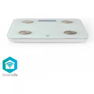NEDIS WIFIHS10WT inteligent Wi-Fi-s cântare personale BMI Grăsime corporală Apă Oase Muşchi Proteină Securizat sticlă 8 utilizator [2]
