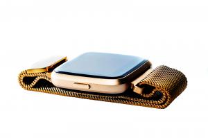 Bratara fitness curea metalica Optimus AT 7 ecran color, smartwatch,  pedometru, puls, notificari, rose [1]