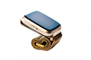Bratara fitness curea metalica Optimus AT 7 ecran color, smartwatch,  pedometru, puls, notificari, rose [2]