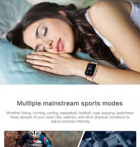 Ceas inteligent (smartwatch)  Optimus AT P8 ecran cu touch 1.4 inch color HD, smartwatch, moduri sport, pedometru, puls, notificari, grey [3]